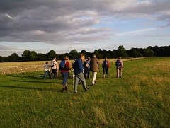 South Cotswolds Ramblers walking near the set of BBC's Larkrise to Candleford, Oxfordshire